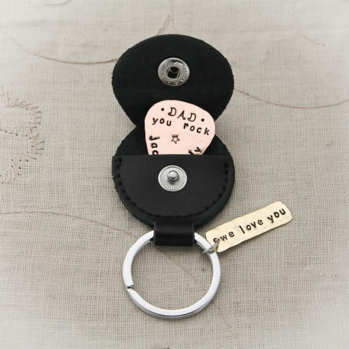 Guitar Pick with Keychain Holder
