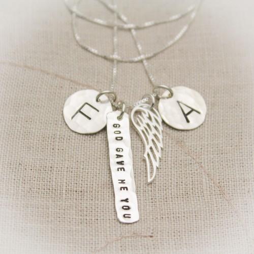 God Gave Me You Necklace Sterling Silver