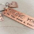 I Love You to the Moon and Back Keychain