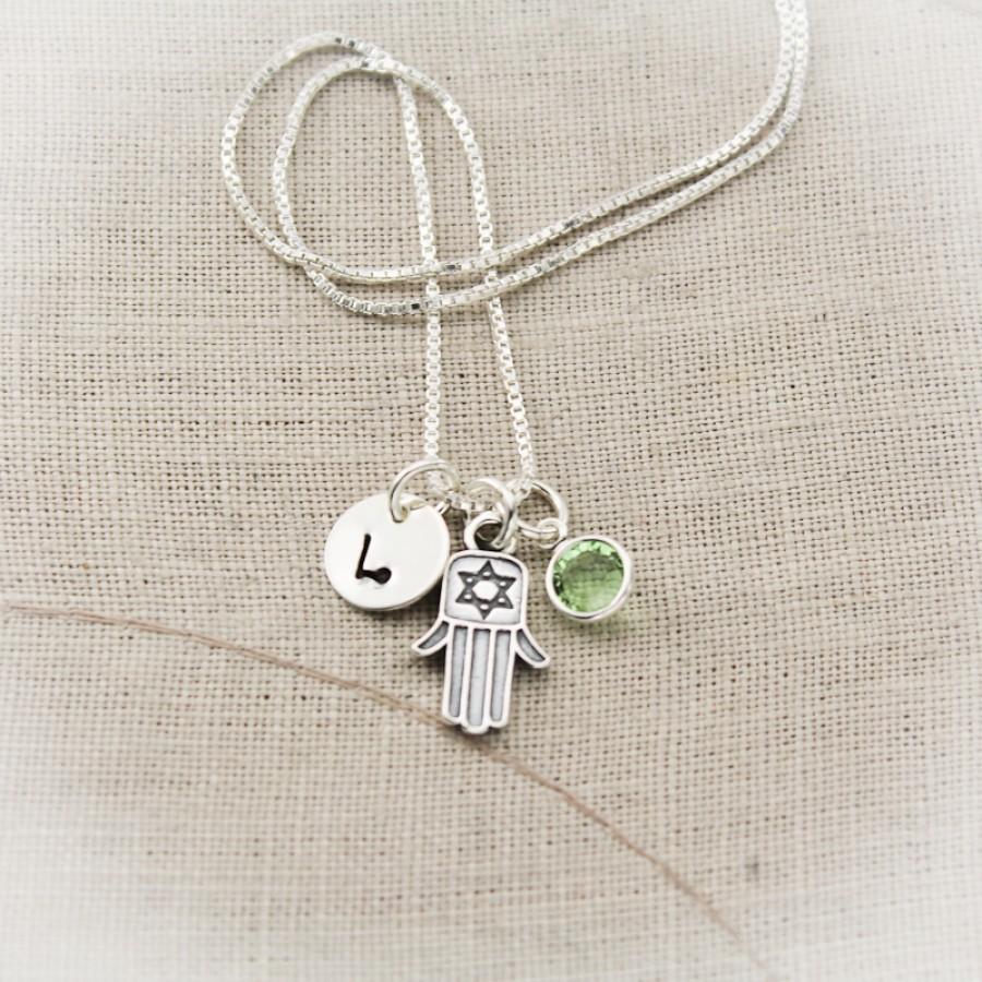 Hamsa Hand Charm Necklace Necklace