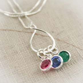 Eternity Birthstone Necklace